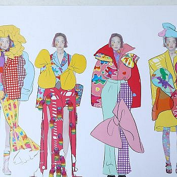 Student Design Competition: Luo Mei dives into Avant-garde fashion with her colourful entry