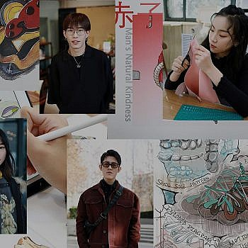 Student design competitors complete samples in China